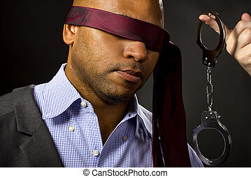 Boyfriend Blindfolded for BDSM with Handcuffs - Unwilling...