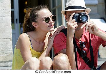 boyfriend taking picture