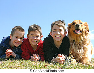 Boys and a Dog - Three Boys and a Dog