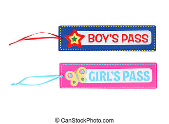 Boys and Girls Pass - Boys and Girls School Pass Isolated ...