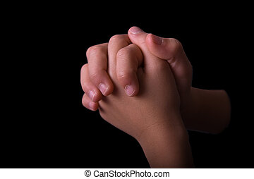 Boys Folded hands praying