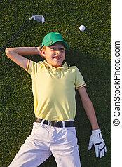 Boy's golfer dreams