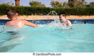 boys in pool