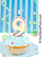 boy\\\'s ninth birthday - boy\\\'s ninth birthday cupcake...