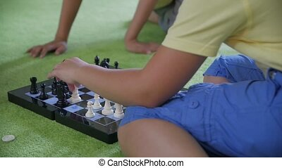 Boys Play Chess - Boys play chess unrecognizable children ...