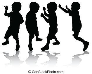 Boys silhouettes