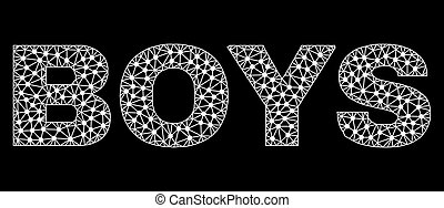 BOYS Text in Polygonal Mesh Style