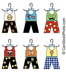 Boys wardrobe - tops and trousers