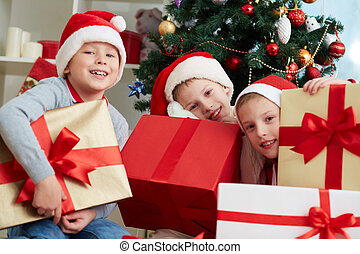 Boys with presents
