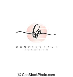 Initial handwriting logo vector, Logo for beauty cosmetics and business