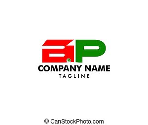 BP initial letter logo design template vector for golf company
