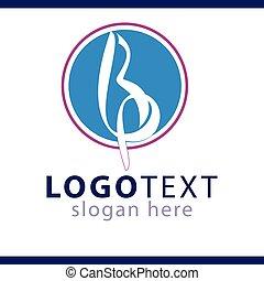 bp initial letter logo vector template