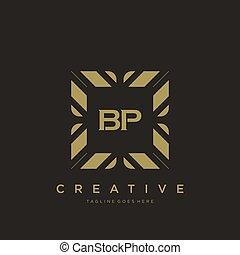 BP initial letter luxury ornament monogram logo template vector art