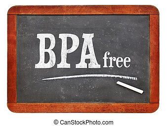 BPA free blackboard sign