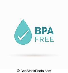 BPA free icon vector design - BPA free icon design. BPA free...