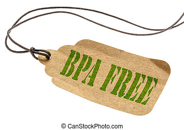 BPA free isolated tag