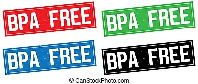 BPA FREE text, on rectangle stamp sign. - BPA FREE text, on...