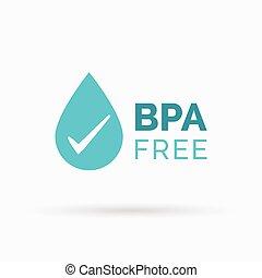 bpa, vecteur, conception, gratuite, icône