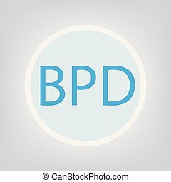 BPD (Borderline Personality Disorder) acronym- vector ...