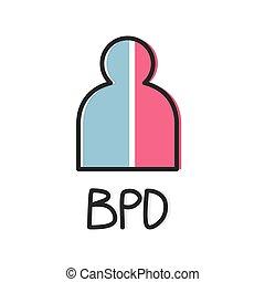 BPD (Borderline Personality Disorder) concept- vector ...