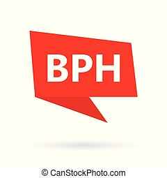 BPH (Benign Prostatic Hyperplasia) on speach bubble