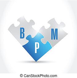 bpm puzzle pieces illustration design