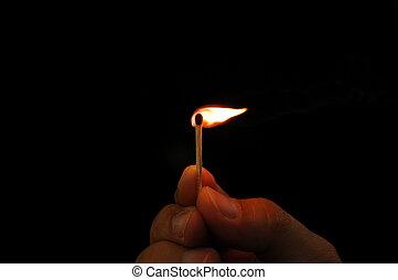 brännande, stubin stick