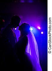 bräute, dancefloor, tanzen