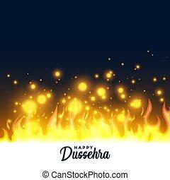 brændende, flamme, dussehra, glade, baggrund, festival, ild
