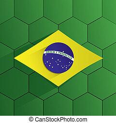 brésil, équipe football, drapeau