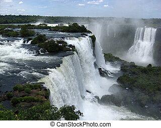 brésil, amérique, chutes, sud, iguazu