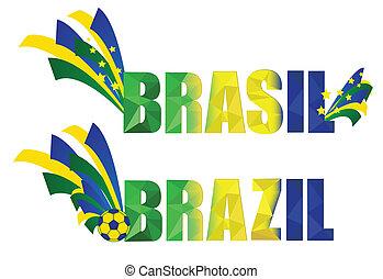 brésil, bannière