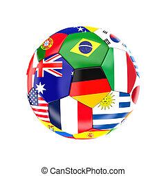 brésil, boule football