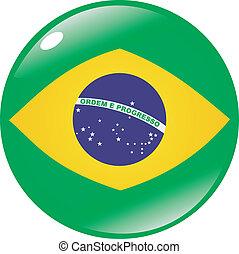 brésil, bouton, couleurs