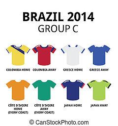 brésil, c, groupe, tasse, -, mondiale, 2014