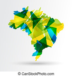 brésil, carte, résumé