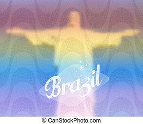 brésil, concept, tourisme, monument