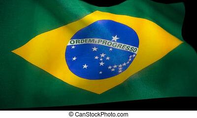 brésil, &, drapeau, animation, alpha, essuie-glace