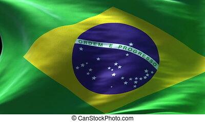 brésil, drapeau ondulant, boucle