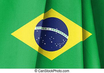 brésil, drapeau, tissu