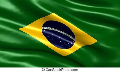 brésil, faire boucle, drapeau, fond