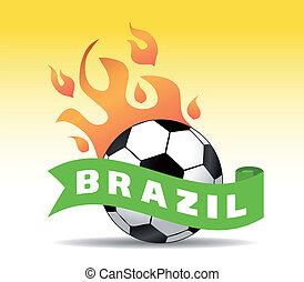 brésil, football, balle