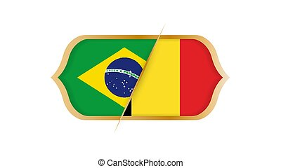 brésil, football, championnat, illustration., vecteur, vs, mondiale, belgium.