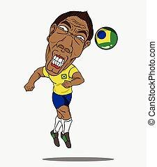 brésil, football, joueur