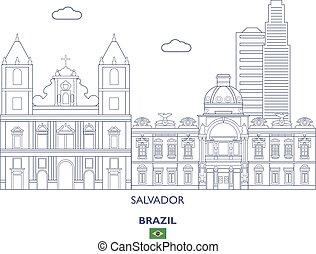 brésil, horizon ville, salvador