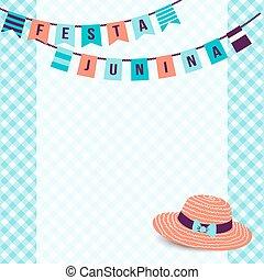 brésil,  junina,  festa,  festival,  -, juin,  Illustration