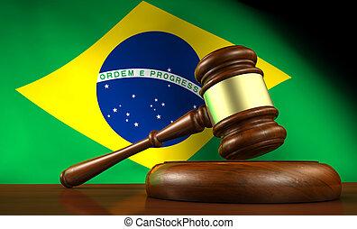 brésil, justice, concept, droit & loi