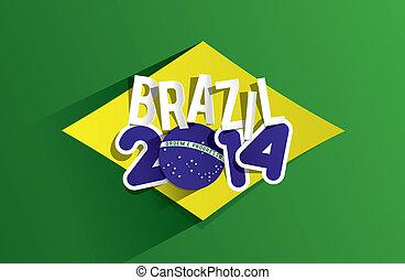brésil, mondiale, créatif, 2014, tasse