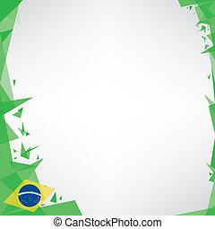 brésil, origami, carrée, fond