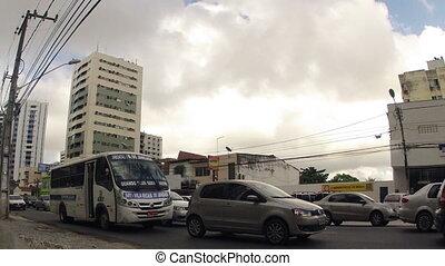 brésil, urbain, défaillance, trafic, temps
